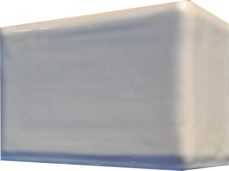 Kafle biale rogowe kwadratele 195 x 130 mm