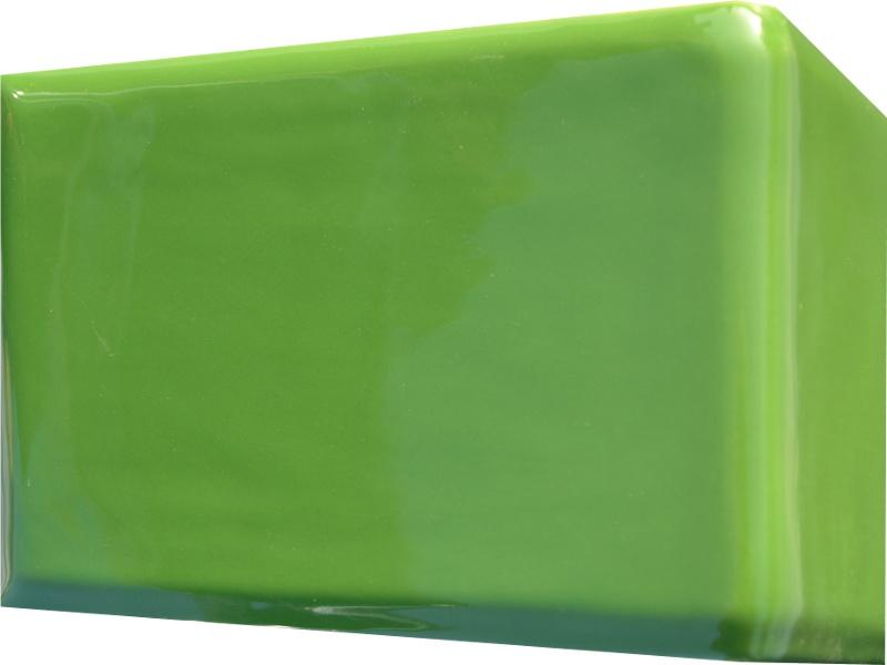 Kafle zielone rogowe kwadratele 195 x 130 mm
