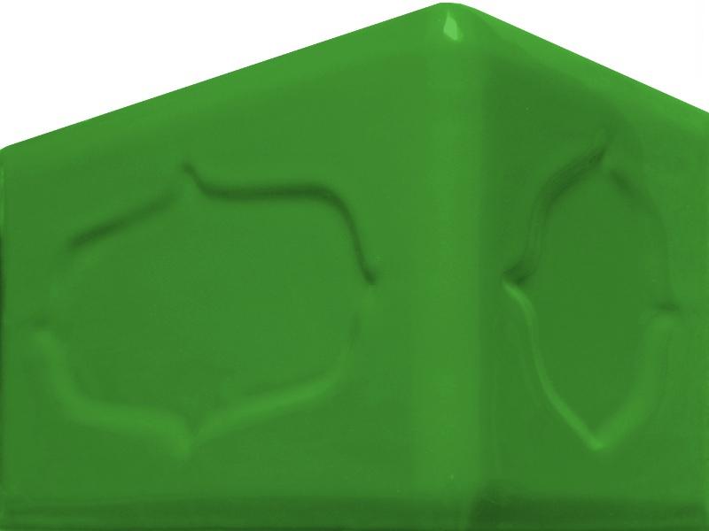 Kafle zielone rogowe barok