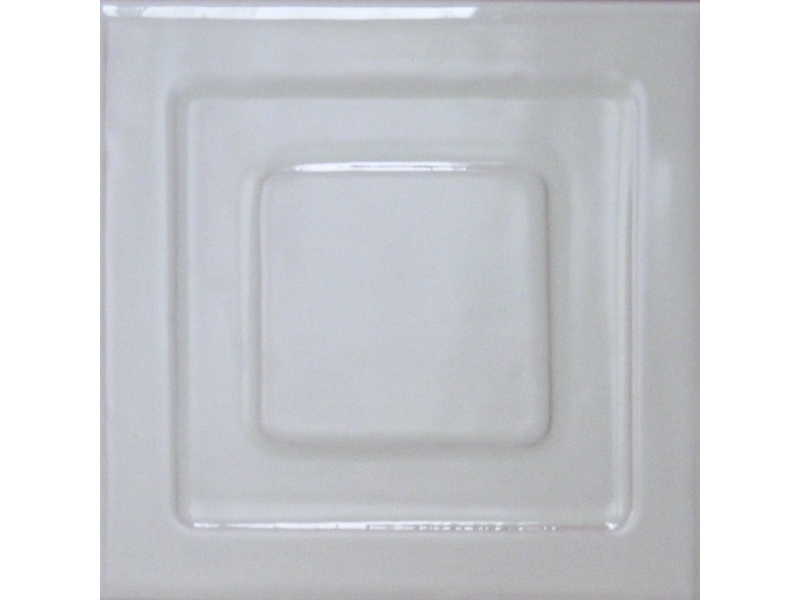 Kafle biale z wzorem pasek kwadratu