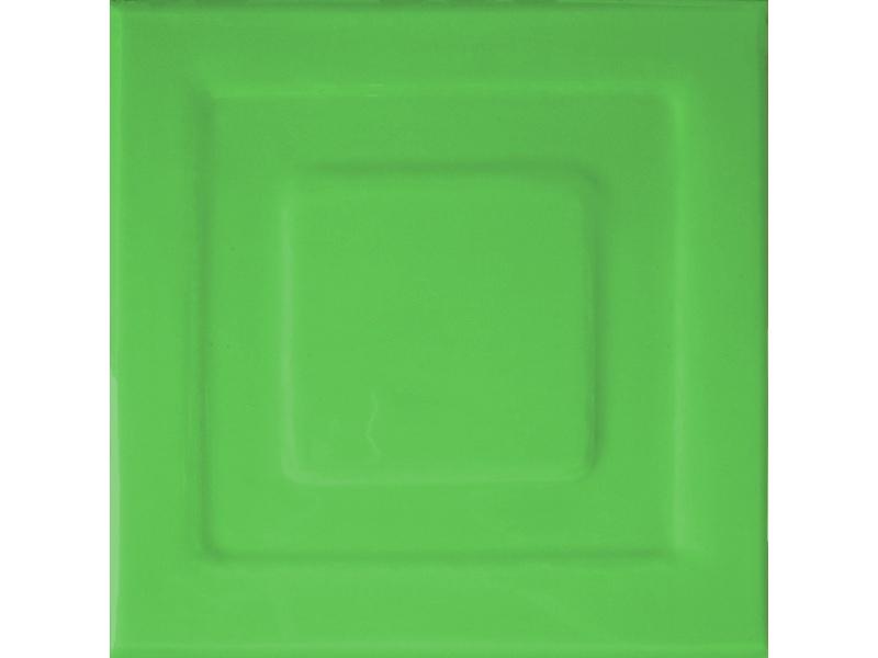 Kafle zielone z wzorem pasek kwadratu