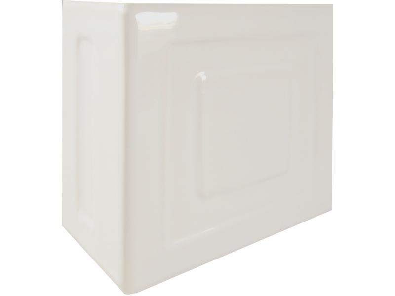 Kafle biale rogowe z wzorem pasek kwadratu