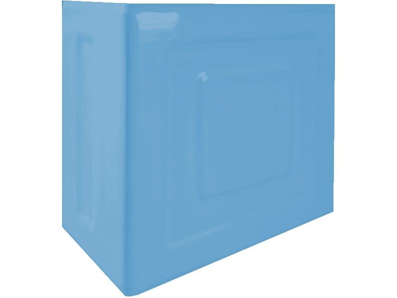 Kafle niebieskie rogowe z wzorem pasek kwadratu