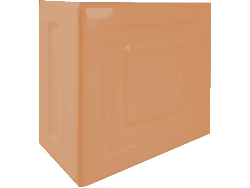 Kafle bezowe rogowe z wzorem pasek kwadratu