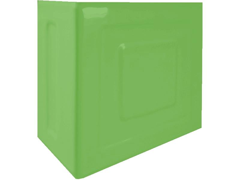 Kafle zielone rogowe z wzorem pasek kwadratu