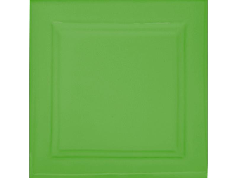 Kafle zielone z wzorem duzy kwadrat