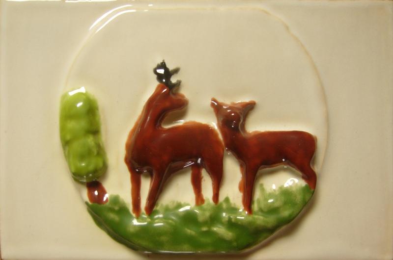 Kafle 3D sarny recznie malowane
