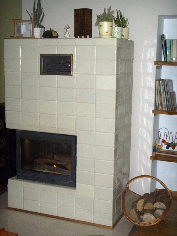 Pieco-kominek z kafli kwadrateli ekri 2