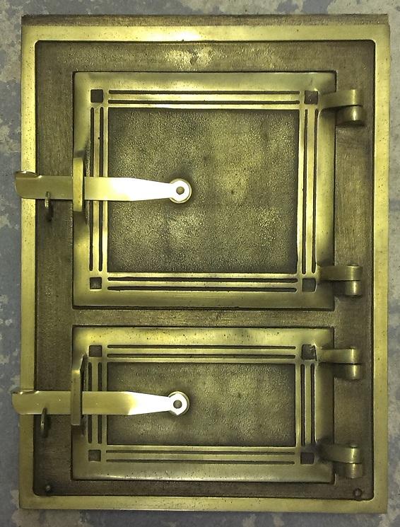 Drzwiczki kuchenne nr 2 mosiadz
