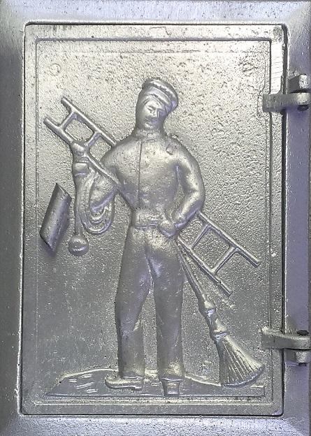 Drzwiczki aluminiowe z kominiarzem