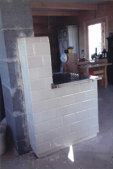 Kuchnia z indukcją bok kwadratele 195 x 130