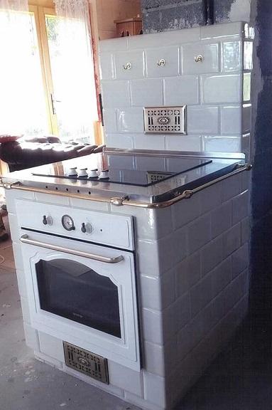 Kuchnia z indukcją 1 kafle kwadratele 195 x 130