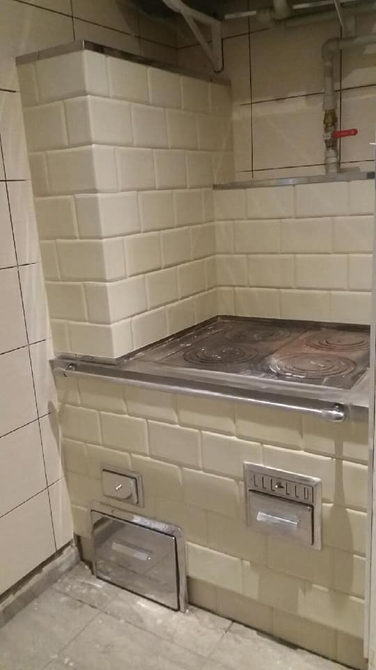 Kuchnia z piecem na salon 1