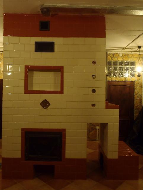 Piec, kuchnia, kominek, wedzarnia w jednym z kafli kwadrateli bezowych i ekri 1